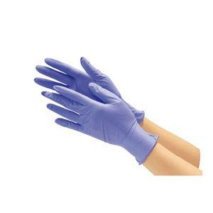 (まとめ) 川西工業 ニトリル使い切り手袋 #2060 ブルーL【×5セット】