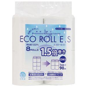 (まとめ) 太洋紙業 エコロールE.S 107mm幅×90m巻 8ロール【×10セット】
