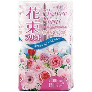 (まとめ) 丸富製紙 トイレットペーパー 花束桃 W 27.5m12巻【×10セット】