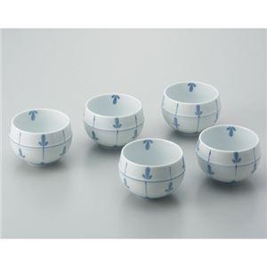 (まとめ) いちがま ツボ型煎茶碗 めばえ 5客セット【×5セット】