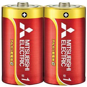 (まとめ) 三菱電機 乾電池 LR20GD/2S 単1 2本【×10セット】