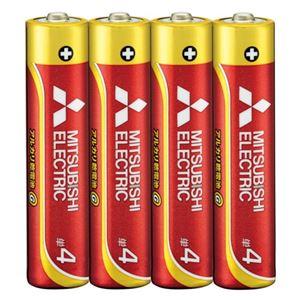 (まとめ) 三菱電機 三菱電機アルカリ乾電池 単4形 40本【×5セット】