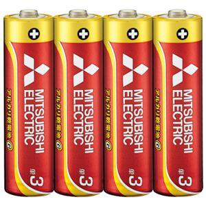 (まとめ) 三菱電機 三菱電機アルカリ乾電池 単3形 40本【×5セット】