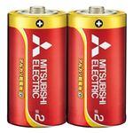 (まとめ) 三菱電機 三菱電機アルカリ乾電池 単2形 10本【×10セット】