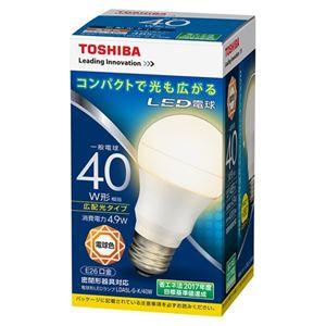 (まとめ) 東芝ライテック LED電球 広配光40W 電球色 LDA5L-G-K/40W【×10セット】