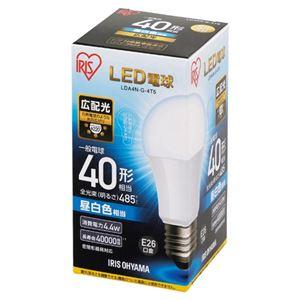(まとめ)アイリスオーヤマLED電球40WE26広配光昼白色LDA4N-G-4T5【×10セット】