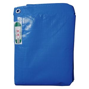 (まとめ) 萩原工業 防炎ブルーシート#3500 3.6×5.4m【×3セット】