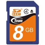 (まとめ) TEAM SDHCカード 8GB TG008G0SD24X【×10セット】