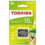 (まとめ) 東芝 microSDHCカード 16GB MSDAR40N16GB【×5セット】