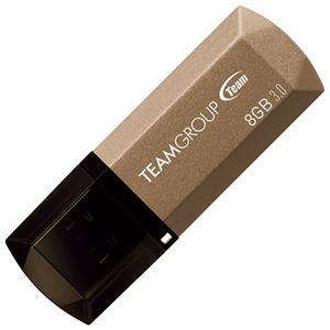(まとめ)TEAMUSB3.0キャップ式USBメモリ8GBTC15538GD01【×10セット】