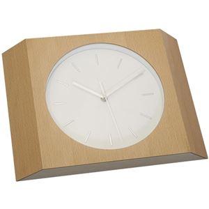 壁掛け時計/ウォールクロック 【Etna ビーチ】 木製×ガラス 文字盤:針 CCL-5405-BC