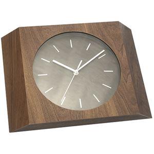 壁掛け時計/ウォールクロック 【Etna ウォールナット】 木製×ガラス 文字盤:針 CCL-5405-WN