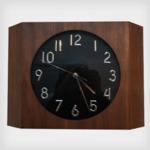 壁掛け時計/ウォールクロック 【Teton ウォールナット】 木製×ガラス 文字盤:数字 CCL-5407-WN