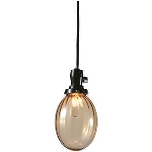 たまごモールランプ/ペンダントライト 【アンバー】 直径13×高さ16cm ガラス 〔インテリア照明器具〕
