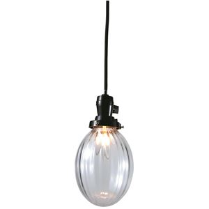 たまごモールランプ/ペンダントライト 【クリアー】 直径13×高さ16cm ガラス 〔インテリア照明器具〕 - 拡大画像