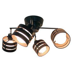 Lotus-R(ロータス-R) ウッドシェードスポットライト/照明 ブラウン TP-277-BR