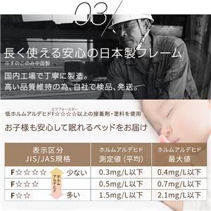 日本製 すのこ仕様 スマホスタンド付き 引き出し付きベッド ダブル (国産ボンネルコイルマットレス付き) 『OTONE』 オトネ ホワイト 白 コンセント付き