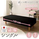 【組立設置費込】日本製 ショート丈 脚付きマットレスベッド ボンネルコイル シングル 10cm脚 『Sleepia』スリーピア ブラック 黒