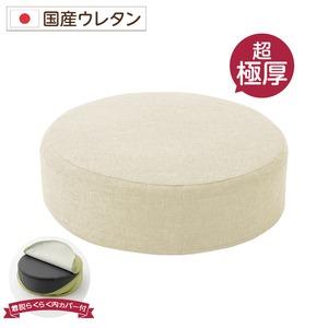 極厚低反発クッション/インテリア雑貨【スクエアタイプブラウン】洗えるカバー日本製ウレタン使用『Pastel』