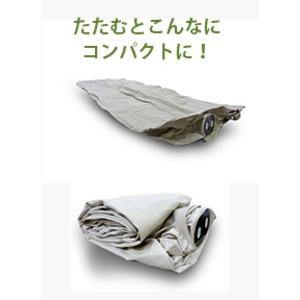 エアーベッド/寝具 【シングル】 191cm×99cm×46cm 折りたたみ 電動ポンプ内蔵 〔寝室 ベッドルーム〕