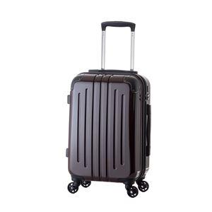 軽量スーツケース/キャリーバッグ 【カーボンワイン】 46L 3.3kg ファスナー 大型キャスター TSAロック