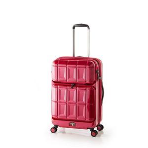スーツケース 【パープリッシュピンク】 拡張式(54L+8L) ダブルフロントオープン アジア・ラゲージ 『PANTHEON』