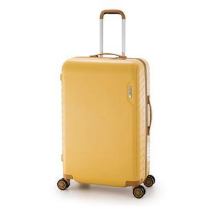 スーツケース/キャリーバッグ 【イエロー】 90L 手荷物預け無料最大サイズ ダイヤル式 アジア・ラゲージ 『MAX SMART』