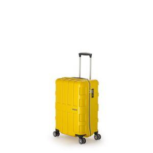 ファスナー式スーツケース/キャリーバッグ 【メタリックイエロー】 40L 機内持ち込み可能サイズ アジア・ラゲージ 『MAX BOX』