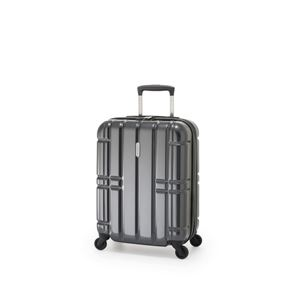 スーツケース/キャリーバッグ 【カーボンブラック】 拡張式(40L+7L) 機内持ち込み可 ファスナー アジア・ラゲージ 『ALIMAX』