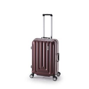 スーツケース/キャリーバッグ 【カーボンレッド】 52L ダイヤル式 TSAロック アジア・ラゲージ 『MAX SMART』