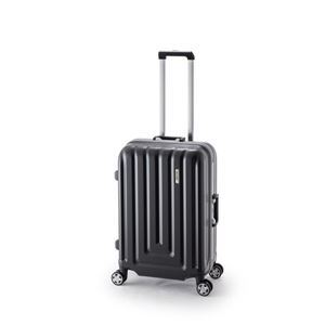 スーツケース/キャリーバッグ 【カーボンブラック】 52L ダイヤル式 TSAロック アジア・ラゲージ 『MAX SMART』