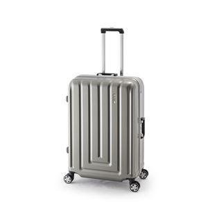 スーツケース/キャリーバッグ 【カーボンシルバー】 82L ダイヤル式 TSAロック アジア・ラゲージ 『MAX SMART』