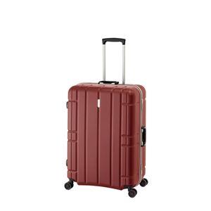 スーツケース/キャリーバッグ 【マットレッド】 100L 手荷物預け無料最大サイズ TSAロック アジア・ラゲージ 『AliMaxG』