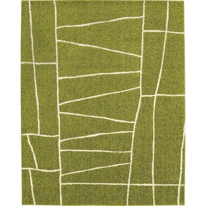 ラグマット カーペット 長方形 ホットカーペット対応 日本製 『ジオーニ』 ライトグリーン 130×190cm - 拡大画像