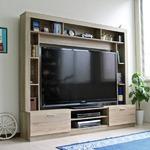 テレビ台 ハイタイプ 壁面家具 リビング壁面収納 60インチ対応 TV台 オーク