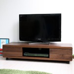 テレビ台 42インチ液晶TV対応 TV台 120cm幅 ブラウン の画像