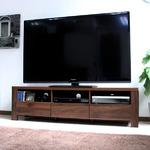 テレビ台 60インチ液晶TV対応 TV台 150cm幅 ダークブラウン の画像
