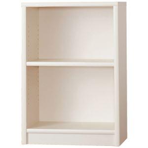 オープンシェルフ/本棚 【1マス×2段 幅60cm】 ウッディホワイト 可動式棚板 日本製 『アコードL』 【完成品】