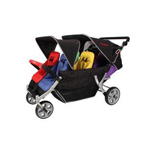 オートブレーキ・折りたたみ自立機能付き・6人乗り高機能モデル 大型ベビーカーFamilidoo(ファミリードゥー) 幼稚園 保育園 お散歩用