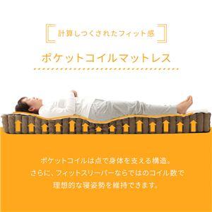 ポケットコイルマットレス ダブル D 両面仕様 『 フィットスリーパー -理想的な寝姿勢をサポート-』 アイボリー 【1年保証】