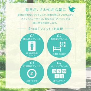 ボンネルコイルマットレス  シングル S  両面仕様 『 フィットスリーパー -理想的な寝姿勢をサポート-』 アイボリー 【1年保証】