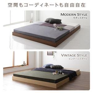 ベッド 低床 ロータイプ すのこ 木製 コンパクト ヘッドレス シンプル モダン ナチュラル シングル ボンネルコイルマットレス付き