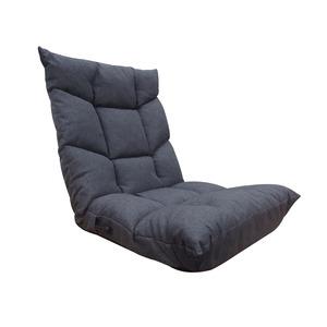 座椅子 ブラン 低反発ウレタン レバー式 14段階 リクライニング グレー
