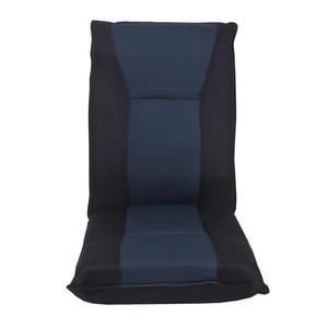 42段リクライニング 座椅子 【ネイビー】 幅44cm フリーロックギア付き 低反発ウレタン スチール ポリエステル