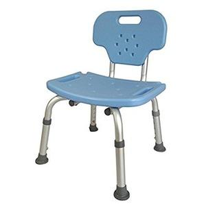 背もたれ着脱 シャワーチェア 【ブルー】 幅42cm 座面高3段階 防滑 防カビ仕様 『Yurax Chair オリジナル』