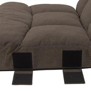 座椅子 スクエア ブラウン 75x76x65cm 42段階リクライニング ポケットコイル