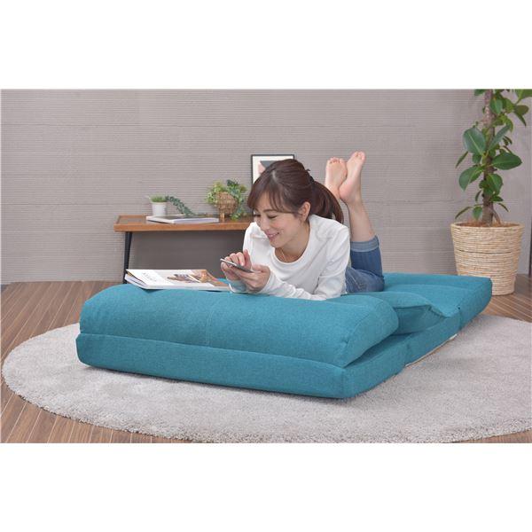 3WAY リクライニング ソファーベッド/カウチソファー 【インディゴ】 シングルサイズ 日本製 『RIDE-LT』