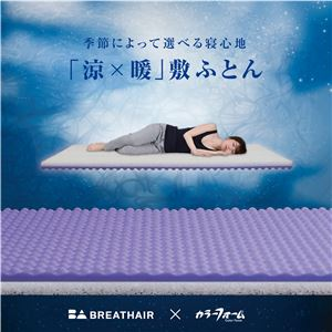 「涼×暖」敷布団 【シングルサイズ】 厚み8cm リバーシブル オールシーズン カバー:洗える 日本製