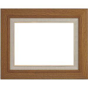 シンプル仕様油絵額縁/油彩額縁【F6チーク】木製