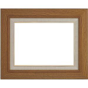 シンプル仕様 油絵額縁/油彩額縁 【P8 チーク】 縦49.7cm×横63cm×高さ5.8cm 表面カバー:ガラス 木製